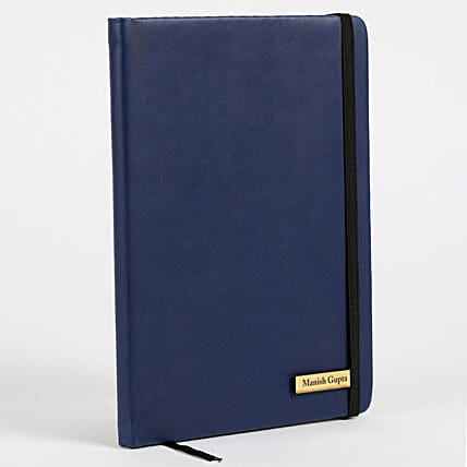 Personalized Blue Notebook:New Year Gifts Delivery In Saudi Arabia