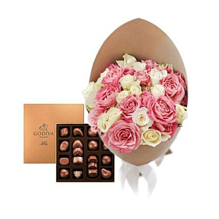 Rose N Godiva Chocolates Combo