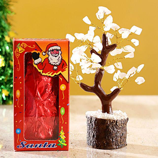 Rose Quartz Wish Tree & Choco Swiss Santa