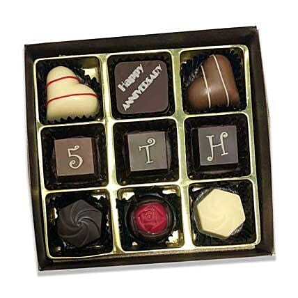 Assorted Chocolate Box For Anniversary- 9 Pcs