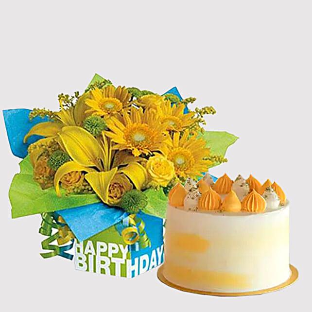 Banana Cake and Sunshine Floral Combo