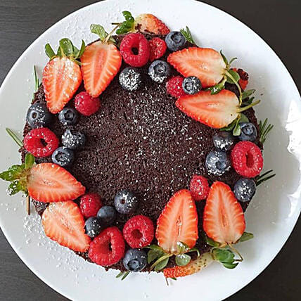 Berries & Fruit Cake