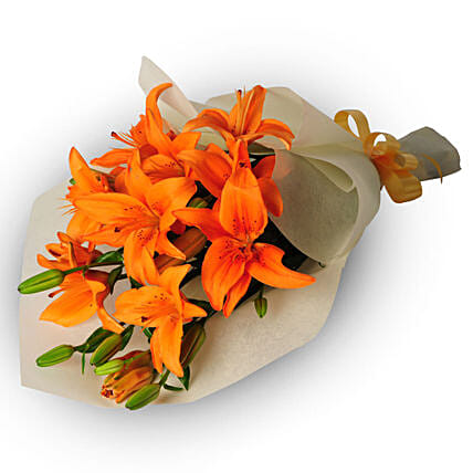 Bouquet of 6 Asiatic Lilies:Send Flowers to Singapore