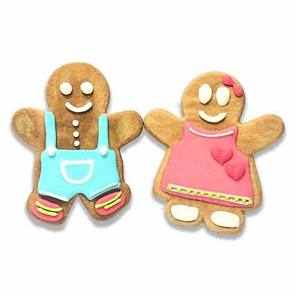 Boy & Girl Gingerbread Cookies For Christmas:Order Cake  Singapore