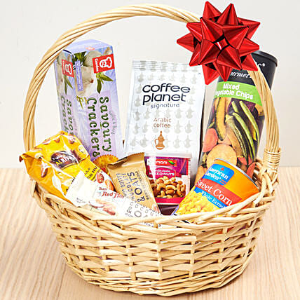 Coffee And Snacks Basket:Gift Baskets to Singapore