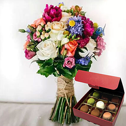 Colourful Flowers And Sugar Free Truffles