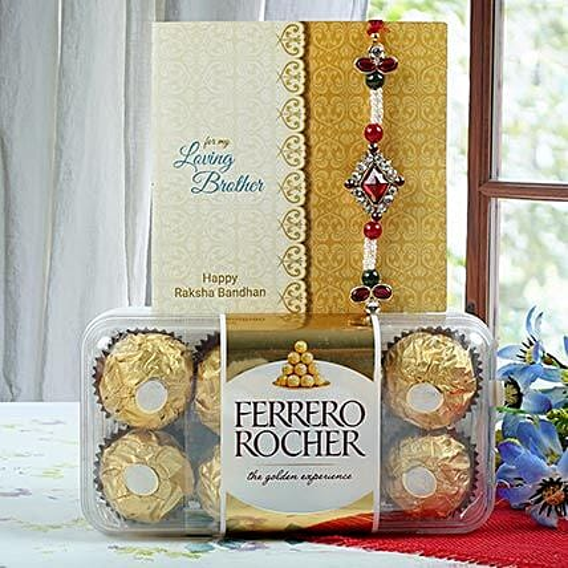 Deginer Rakhi with Rocher