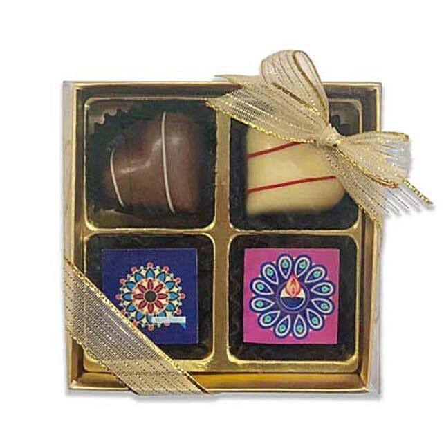 Designer Diwali Chocolate Box- 4 Pcs