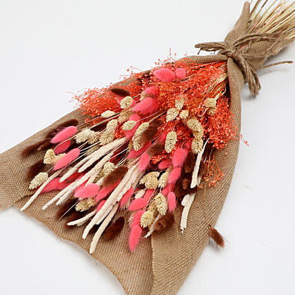 Dried Lagurus and Pampus Bouquet