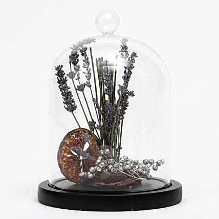 Dried Lavender In Glass Dome