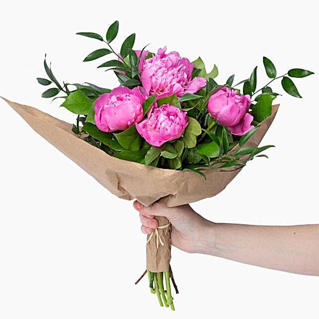 Elegant Pink Peonies Bouquet