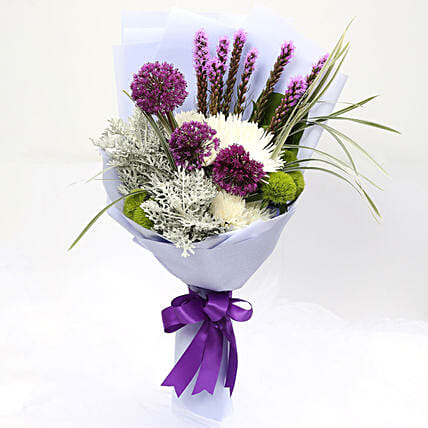 Enchanting Delistar and Liatris Mixed Bouquet