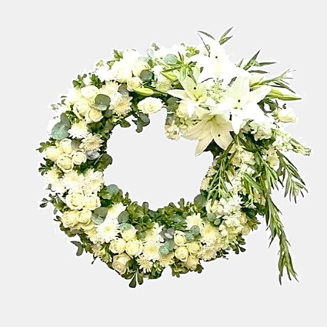Everlasting White Floral Arrangement