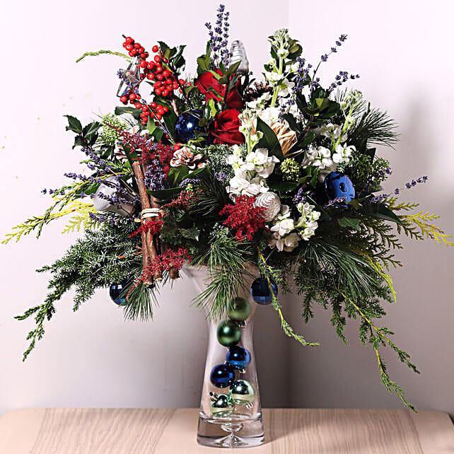 Festive Flower Vase