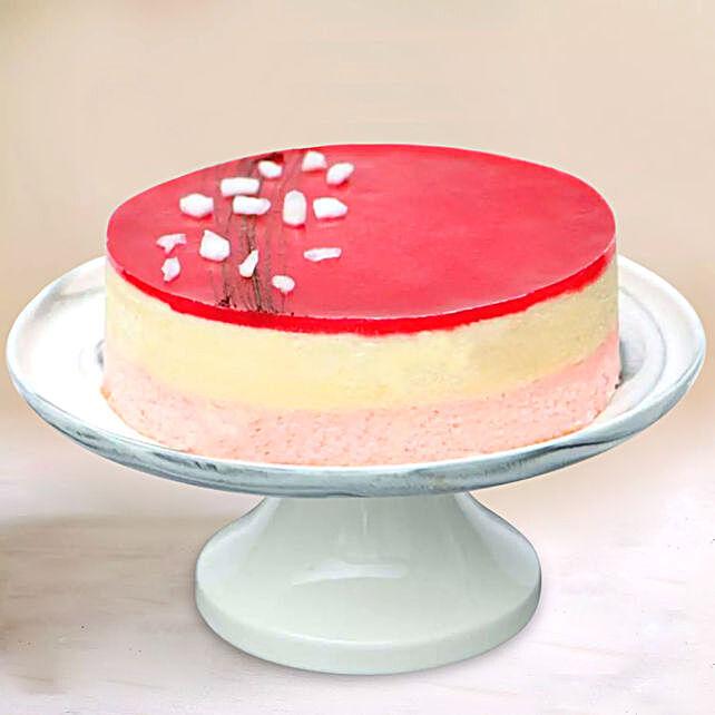 Fresh Raspberry Lychee Rose Cake