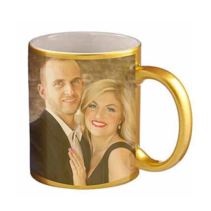 Golden Personalised Couple Mug:Personalised Gifts to Singapore
