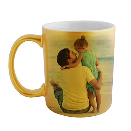 Golden Personalized Father Daughter Mug:Personalised Mugs to Singapore