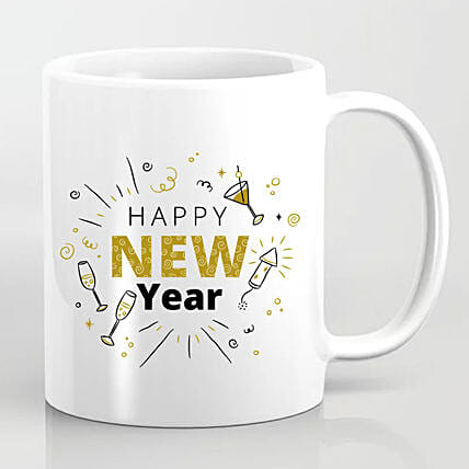 Happening New Year Greetings Mug