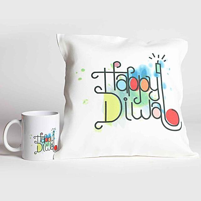 Happy Diwali White Printed Combo Gifts