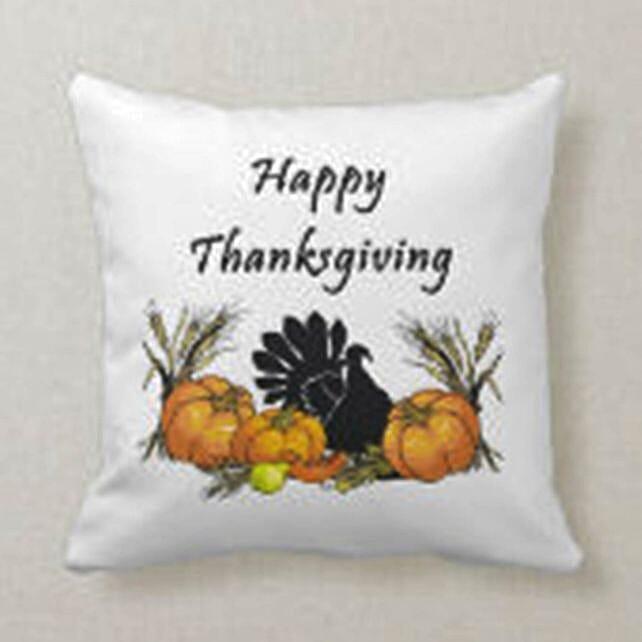 Happy Thanksgiving Wishes Cushion:Send Cushion to Singapore
