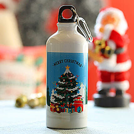 Merry Xmas Greetings Bottle:Personalised Gifts to Singapore