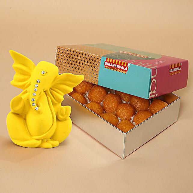 Motichoor Laddoo And Ganesha Combo