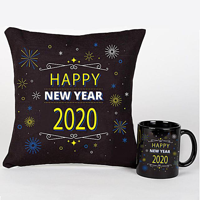 New Year Greetings Mug And Cushion