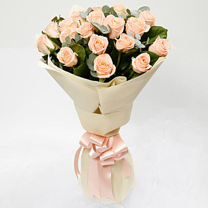 Peach Love 20 Roses Bouquet
