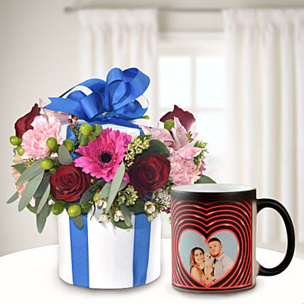 Perfect You Flowers In Vase with Personalised Mug