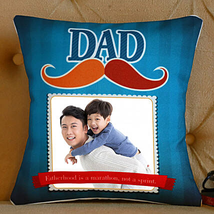 Personalised Mustache Cushion For Dad:Send Fathers Day Gifts to Singapore