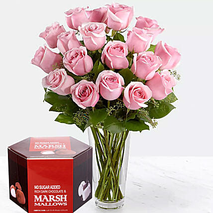 Pink Roses And Milk Coffee Beans