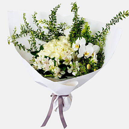 Posy Of White Flowers