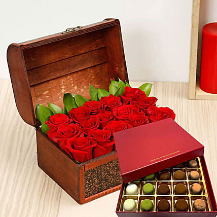 Red Roses And Sugar Free Truffles