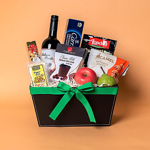 Red Wine N Cookies Gift Hamper
