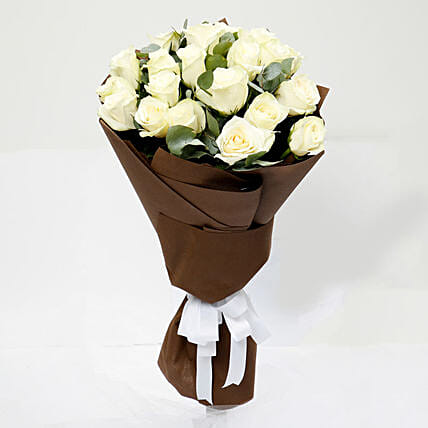 Serene 20 White Roses Bouquet