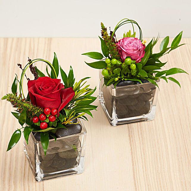 Set Of 2 Flower Vase Arrangements