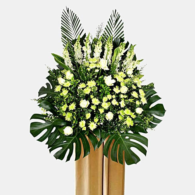Shades Of White Flower Arrangement