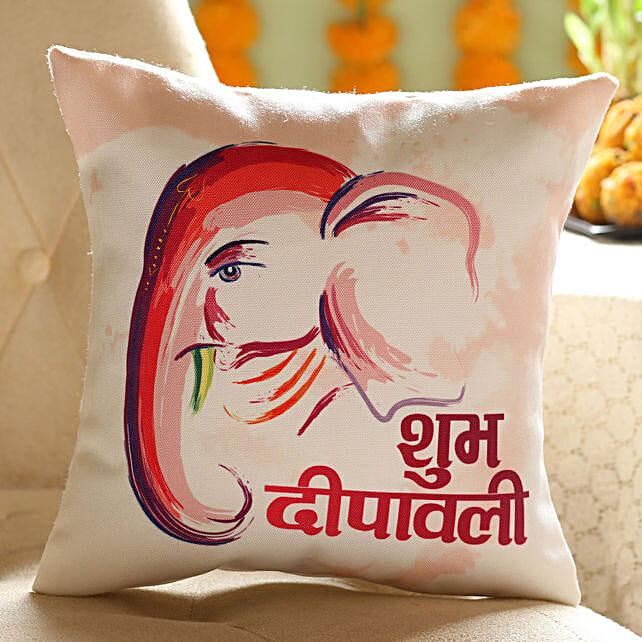 printed shub diwali cushion online