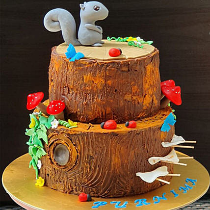 Squirrel Cartoon Cake