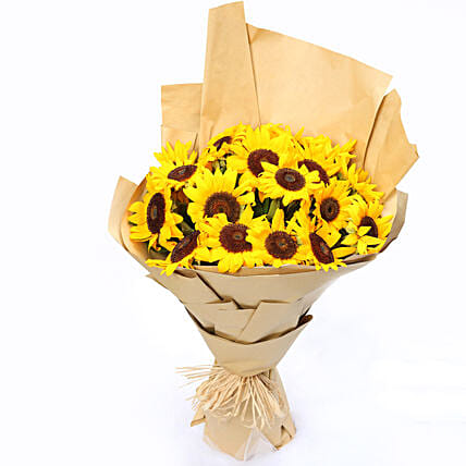 Sunny Hill 20 Sunflowers Bouquet