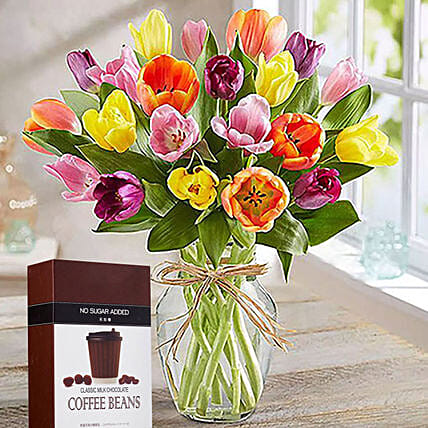 Tulips And Milk Coffee Beans