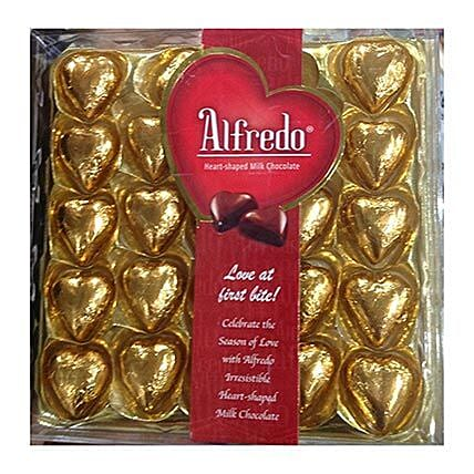 Heart Shaped Alfredo Milk Chocolates:Gifts for Him to Singapore