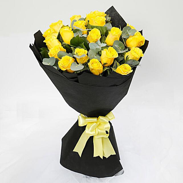 Sunshine 20 Yellow Roses Bouquet