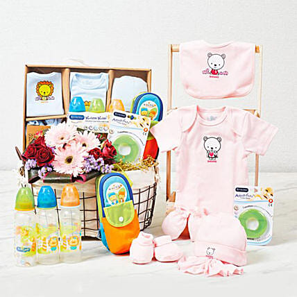 Adorable Baby Care Essentials Hamper