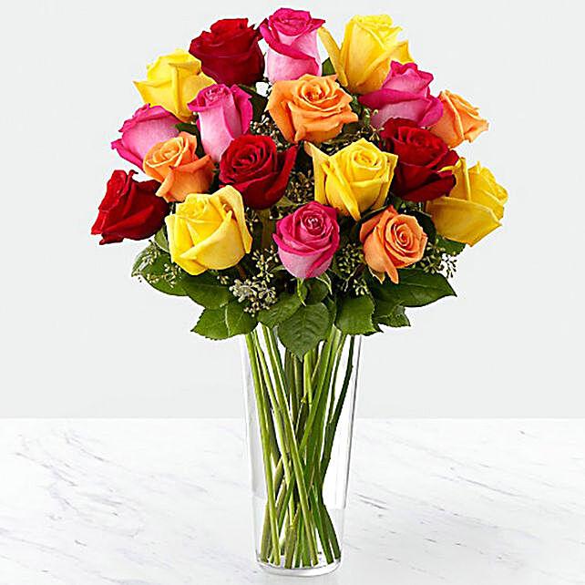 Vase Of Vivid Roses