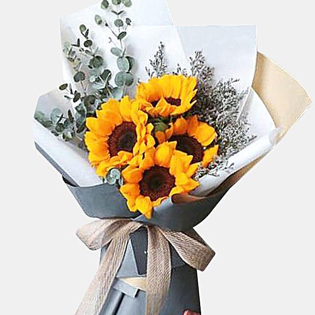 Bright Sunflowers Bunch