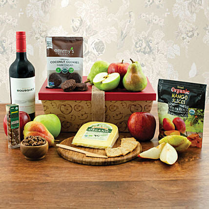 Red Wine N Cookies Gift Hamper:Gift Baskets to Singapore