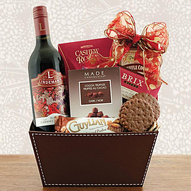 Wine N Cookies Gift Hamper:Gift Basket to Singapore