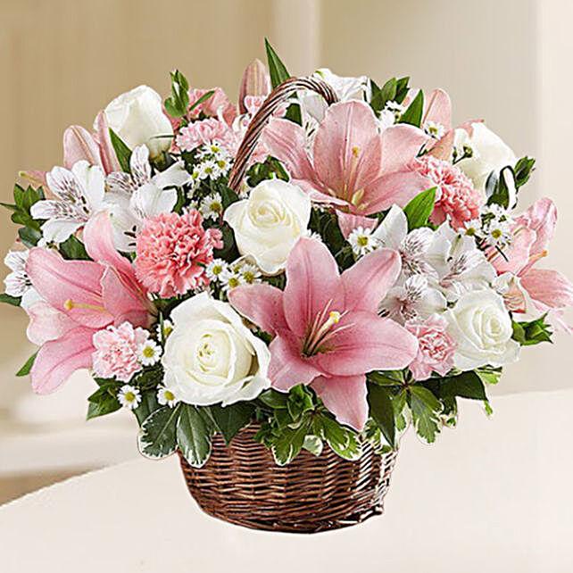 Beautiful Flowers Basket