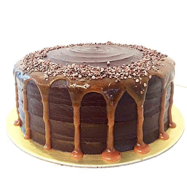 Valrhona Chocolate Salted Caramel Cake